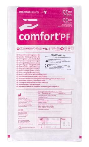 Comfort PF Рукавички латексні хірургічні неприпудрені стерильні розмір 8,0 1 пара