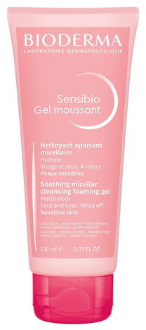 Bioderma Sensibio Гель очищуючий для обличчя та контуру очей для чутливої шкіри 100 мл 1 туба