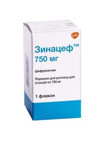 Зинацеф порошок для ін'єкцій 750 мг 1 флакон
