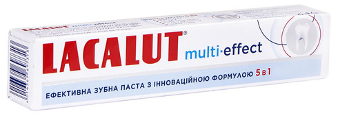 Lacalut Multi-effect Зубна паста 75 мл 1 туба