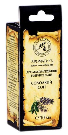 Ароматика Аромакомпозиція ефірних олій Солодкий сон 10 мл 1 флакон