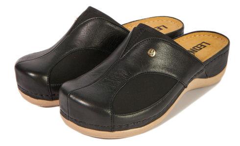 Leon 912 Медичне взуття жіноче чорного кольору 37 розмір 1 пара